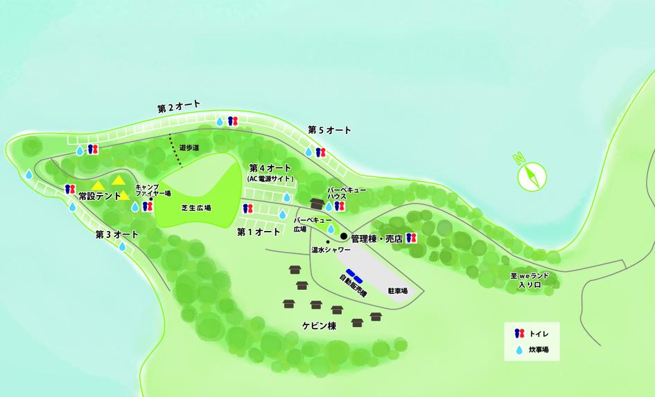 能登島家族旅行村Weランドmap