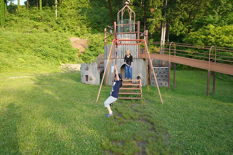閑乗寺公園で遊びました