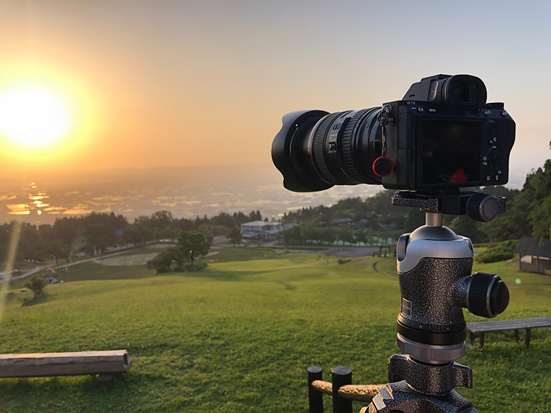 閑乗寺公園でα7 IIIを使って夕日の撮影