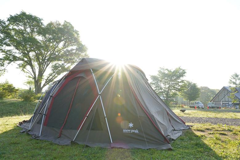 戸隠キャンプ場の朝