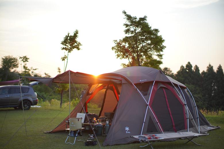 牛岳パノラマオートキャンプ場 きらら 夕日