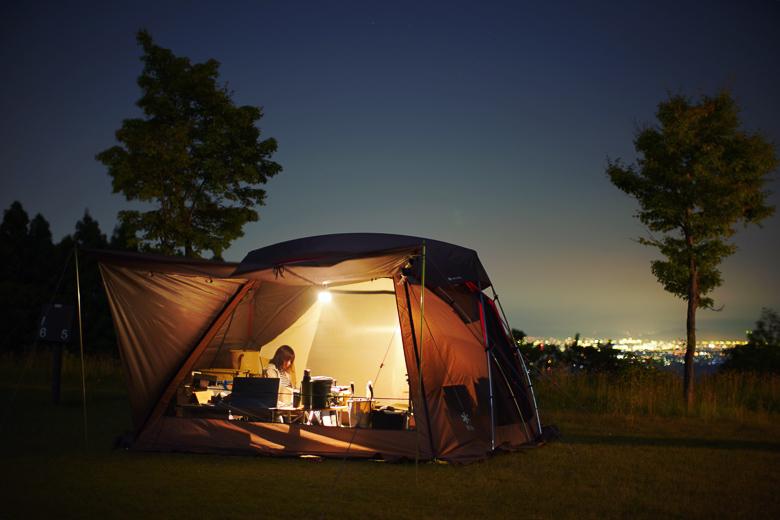 牛岳パノラマオートキャンプ場 きらら 夜景