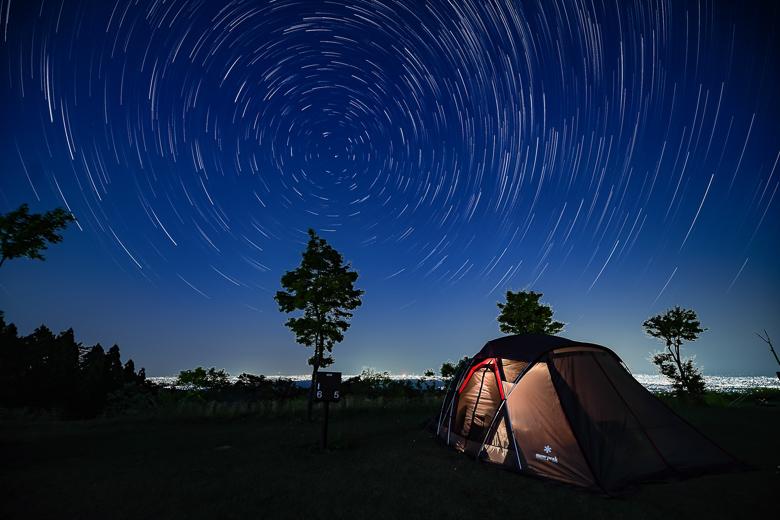 牛岳パノラマオートキャンプ場 きらら 星空