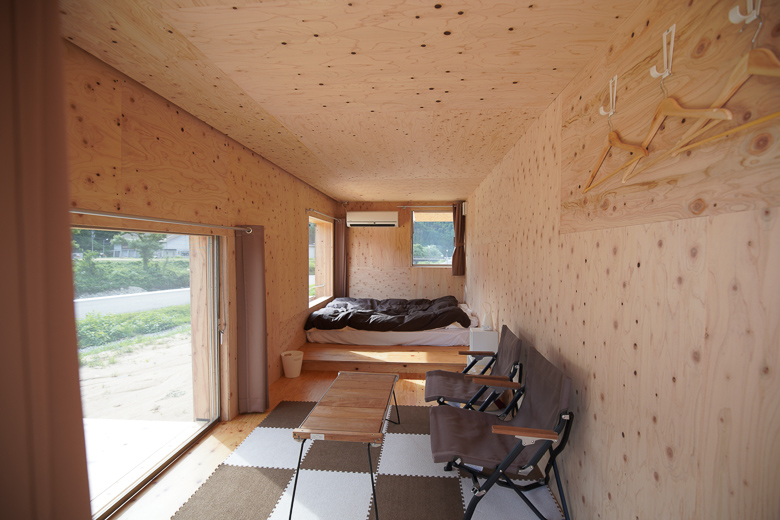 利賀国際キャンプ場 住箱キャンプ