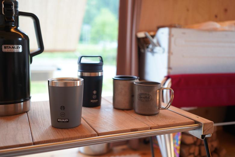 利賀国際キャンプ場 住箱でStarbucks×Fragment Design×STANLEYのトリプルコラボを使用
