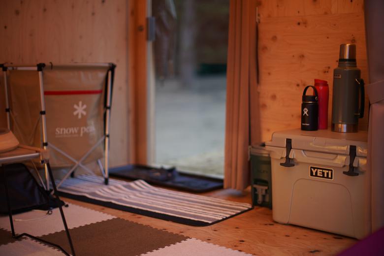 利賀国際キャンプ場 住箱の中