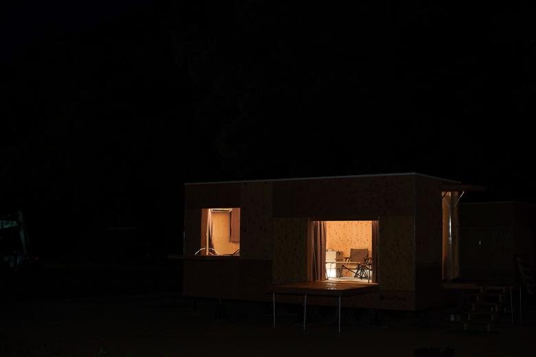 利賀国際キャンプ場 住箱の照明