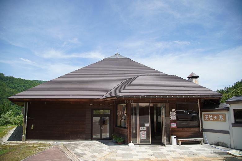 利賀国際キャンプ場近くの天竺温泉
