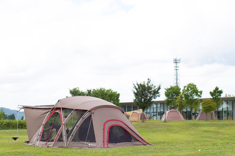 リビングシェルロング Pro. スノーピーク ヘッドクォーターズ キャンプフィールドにて