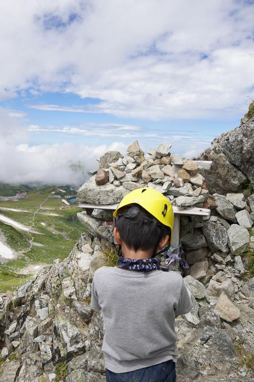 立山山頂へ向けて登山