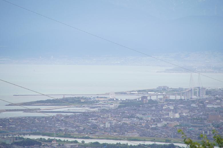 第54回富山新港花火大会 二上山から下見