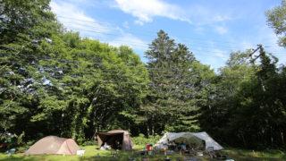 平湯キャンプ場の朝
