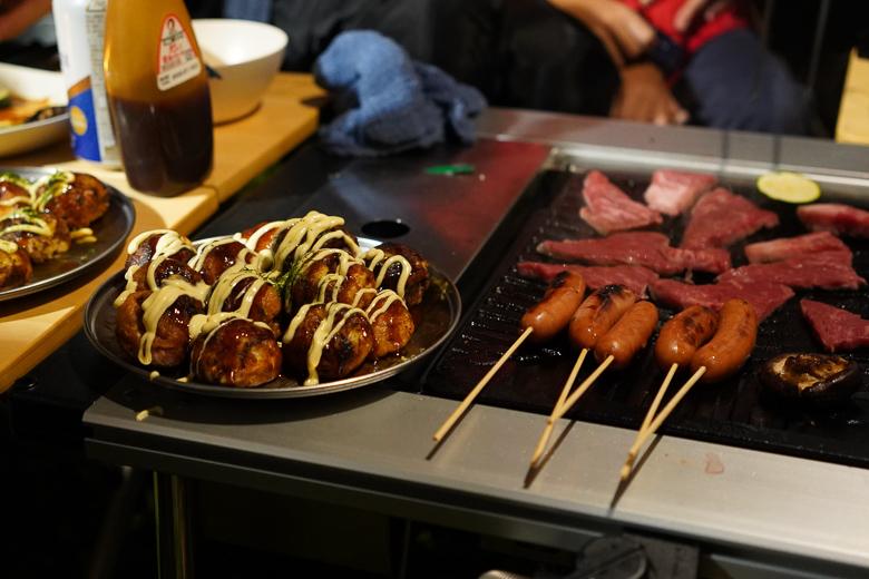雨飾高原キャンプ場で焼き肉