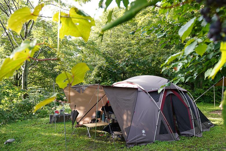 雨飾高原キャンプ場の朝