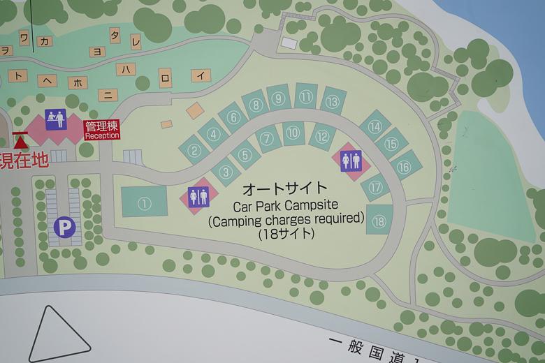 吉野オートキャンプ場 場内マップ