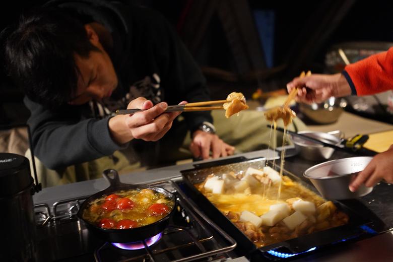雨飾高原キャンプ場 チーズダッカルビ