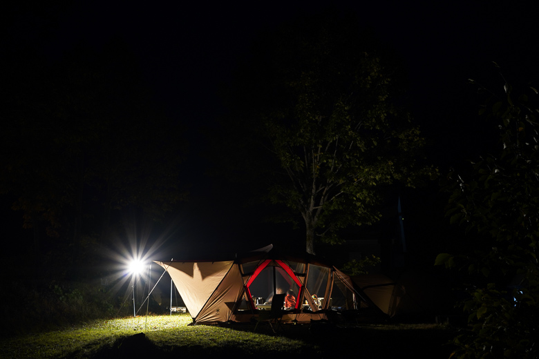 雨飾高原キャンプ場 夕食