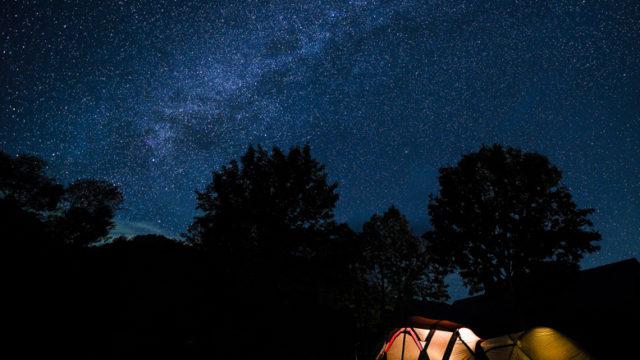 雨飾高原キャンプ場 星空
