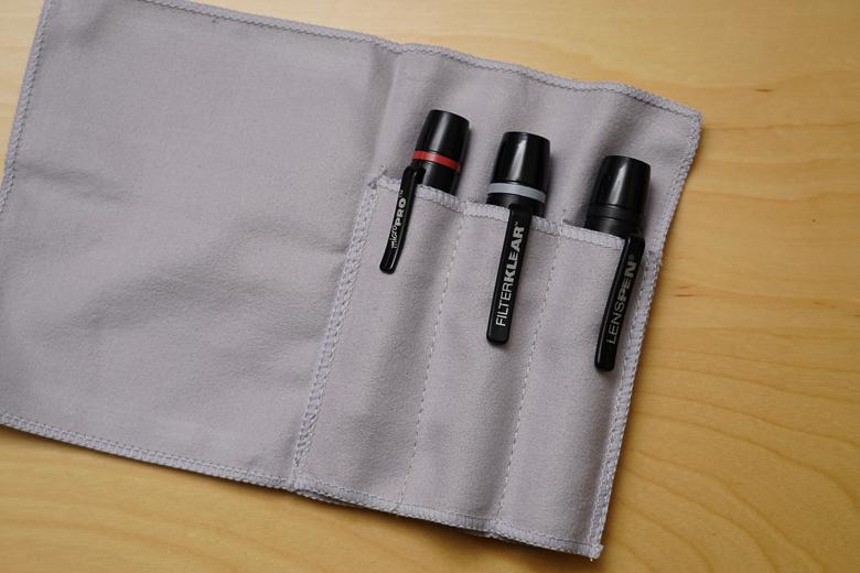 HAKUBA メンテナンス用品 レンズペンプロ あああ キットプラス 3本セット+ヘッドスペア+収納ファイバークロス ブラック KMC-LP23BKTP