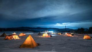 スノーピーク Headquartersの星空とキャンプサイト