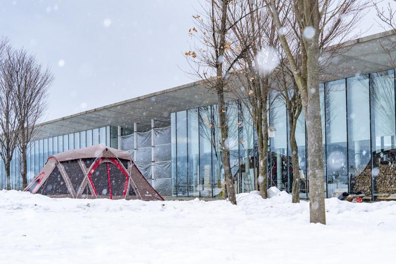 スノーピーク Headquartersで雪中キャンプ