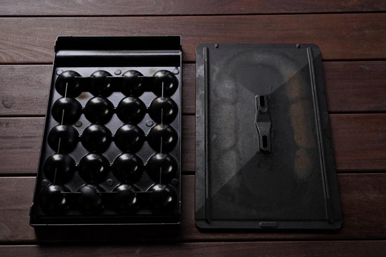 雪峰苑の鉄板とたこ焼きプレート比較