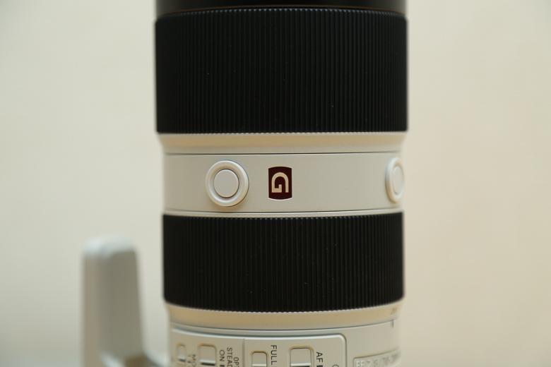 SONY FE 70-200mm F2.8 GM OSS G MASTERロゴ