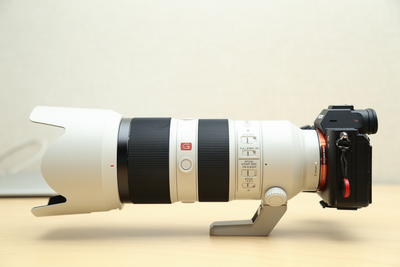 SONY FE 70-200mm F2.8 GM OSSをa7iiiに取り付け