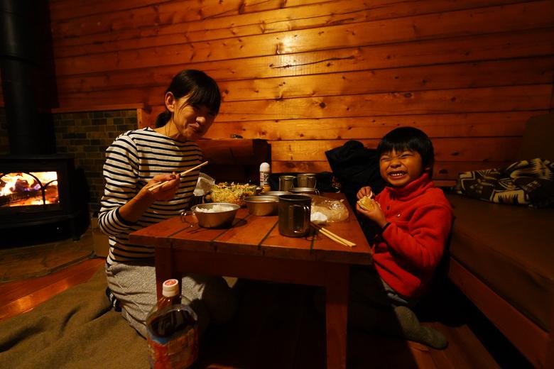 北軽井沢スウィートグラス ハンモックキャビンで夕食