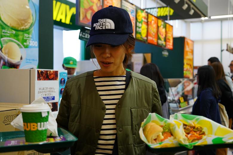 ツルヤ軽井沢店のSUBWAYでランチ