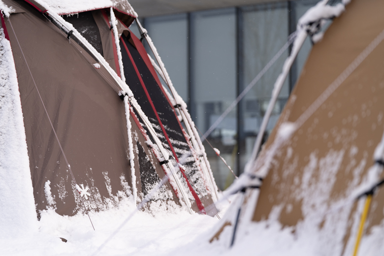 スノーピーク Headquartersの朝