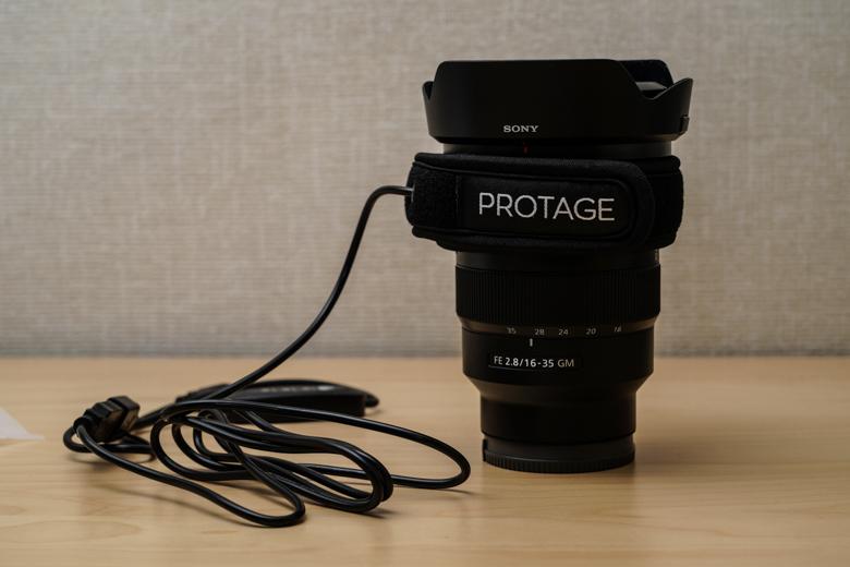 PROTAGE 結露 防止 レンズ ヒーター 「FE 16-35mm F2.8 GM」に取り付け