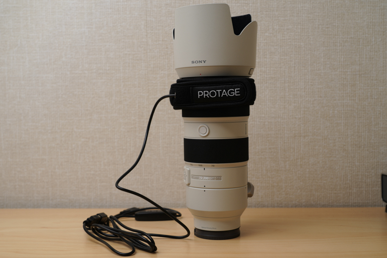 PROTAGE 結露 防止 レンズ ヒーター 「FE 70-200mm F2.8 GM OSS」に取り付け