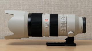 SONY FE 70-200mm F2.8 GM OSSにRRSの三脚座(LCF-101)を取り付けした写真