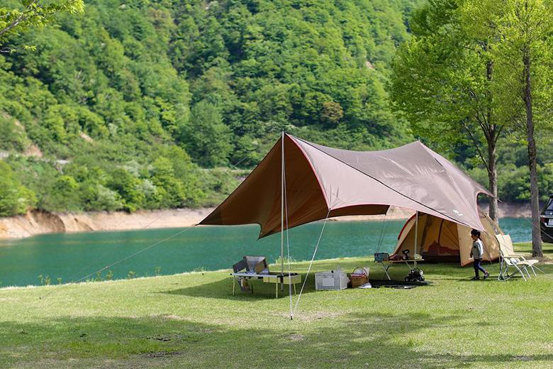 桂湖でデイキャンプ