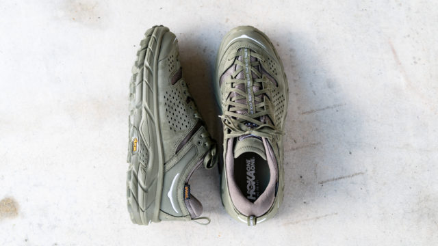 HOKA ONE ONE TOR ULTRA LOW WP JP バーント オリーブ