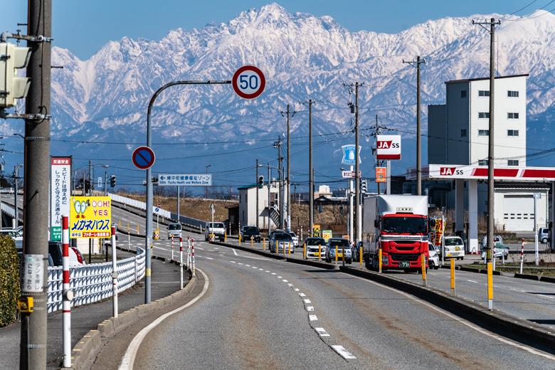 富山市から見る立山連峰