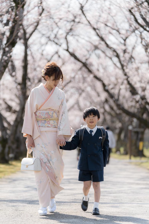富山県中央植物園で桜ポートレート