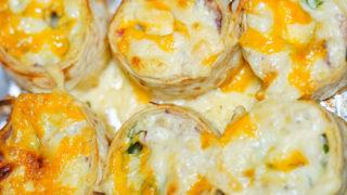 コストコ ハイローラー(B.L.T)にマーブルシュレッドチーズを乗っけて焼いた